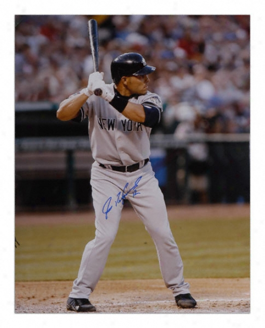 Ivan Rodriguez New York Yankees - Batting - Autographed 16x20 Photograph