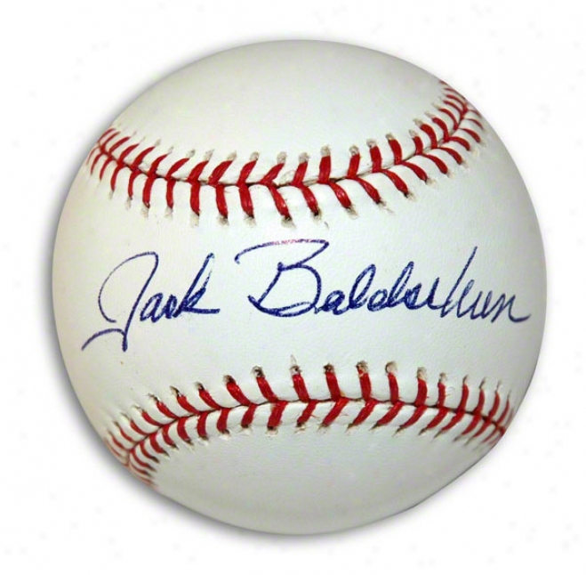 Jack Baldschun Autographed Mlb Baseball