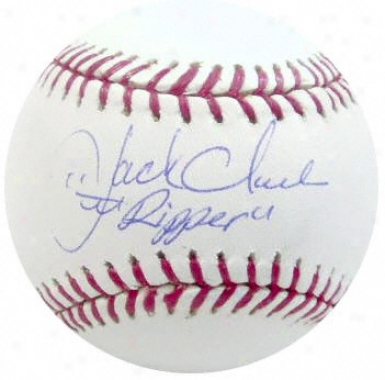 Jack Clark Autographed Baseball  Details: &quotripper&quot Inscription