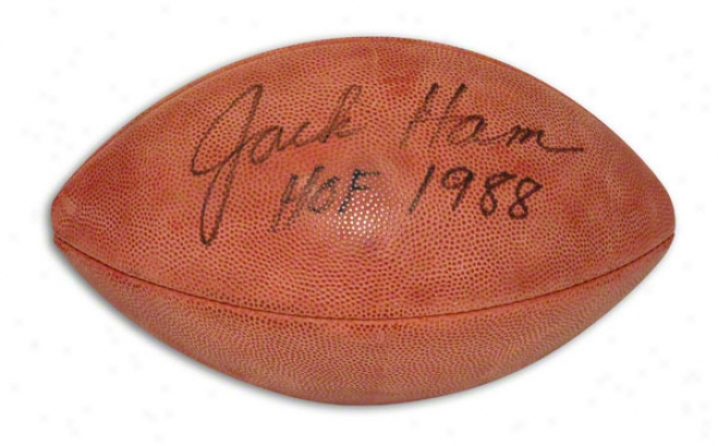 Jack Ham Autographed Nfl Football Inscribed &quothof 1988&quot