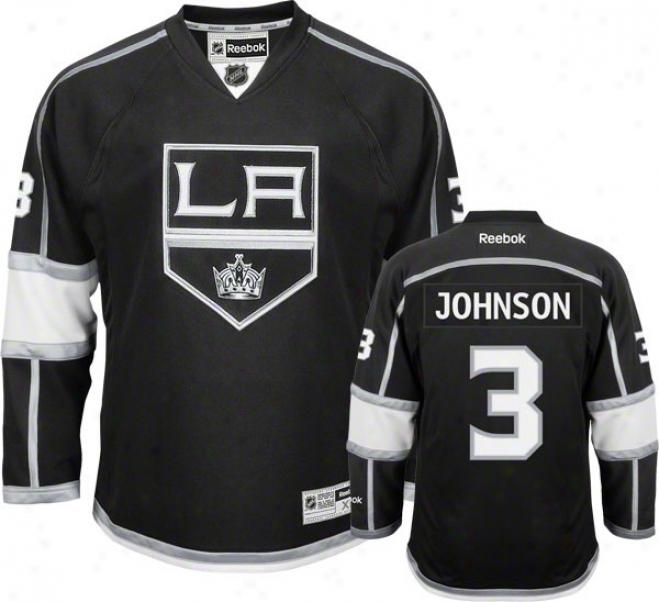 Jack Johnson Jersey: Reebok Black #3 Los Angeles Kings Premier Jersey