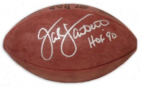 Jack Lambert Autographed Football  Detaisl: Hof 90 Inscription
