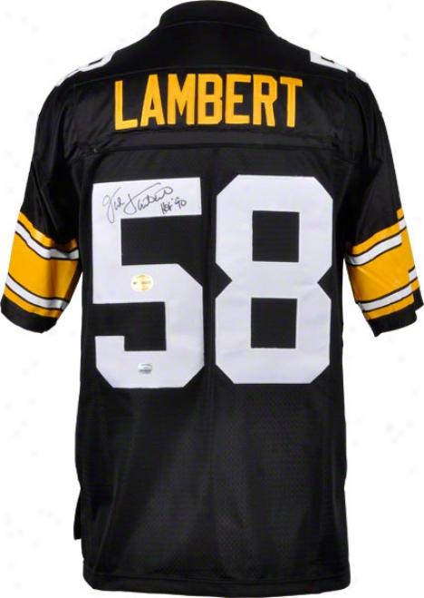 Jack Lambert Autographed Jersey  Details: Pittsburgh Steelers, Reebok Eqt, Hof 1990 Inscription
