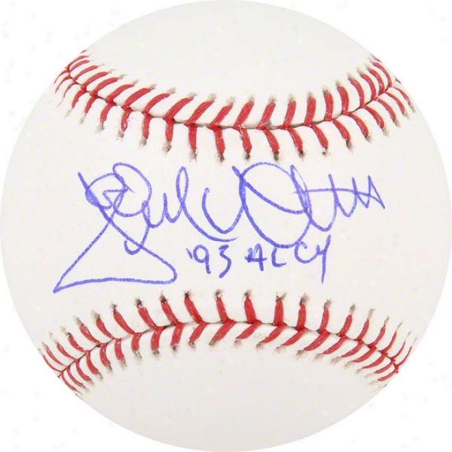 Jack Mcdowell Autographed Baseball  Details: Chicago Whlte Sox, With &quot93 Al Cy&quot Inscription