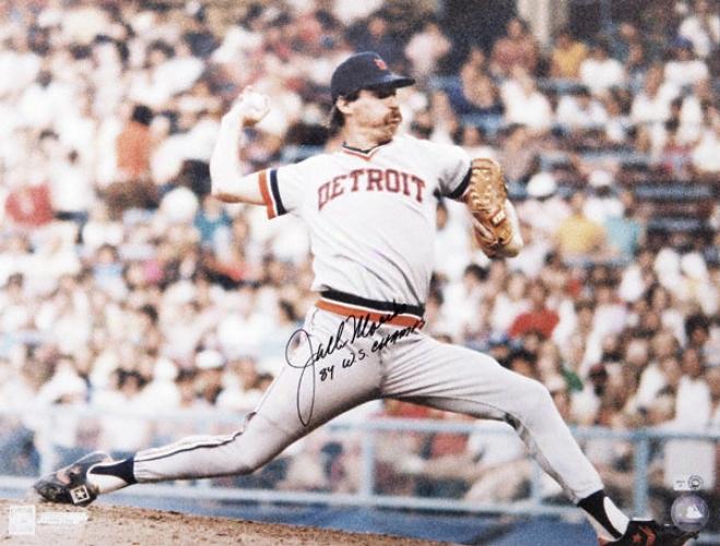 Jack Morris Detroit Tigers Autographed 16x20 Photograph With 84 Ws Champs Inscription