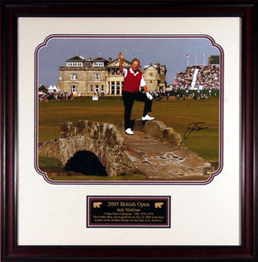 Jack Nicklaus -2005 British Open- Framed 16x20 Autographed Photograph