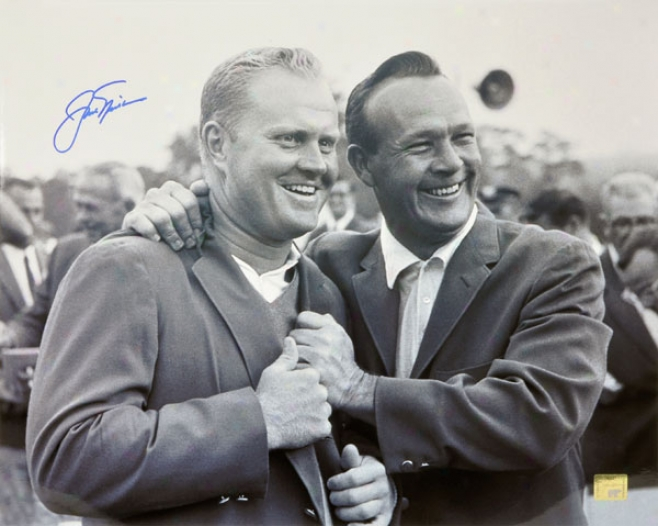 Jack Nicklaus Autographed Photoyraph  Details: 1965 Mastera Presntation, 16x20