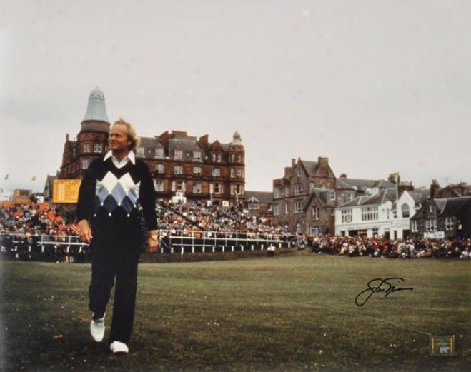 Jack Nicklaus Autographed Photograph  Details: 1978 British Open, 16x20