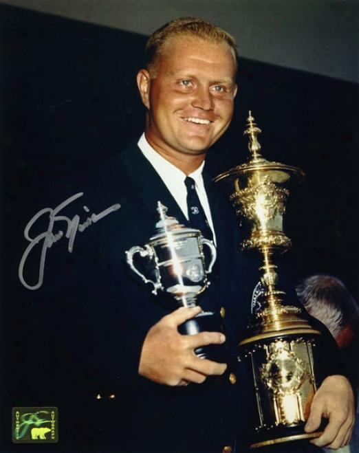 Jack Nicklaus Autographed Photograph  Details:1959 Amateur, 8x10