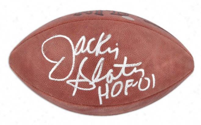 Jackie Slater Autographed Football  Detaila: Nfl Football