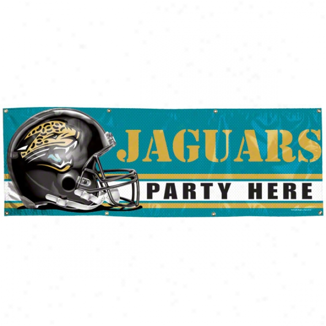 Jacksonville Jaguars 2x6 Vinyl Banner