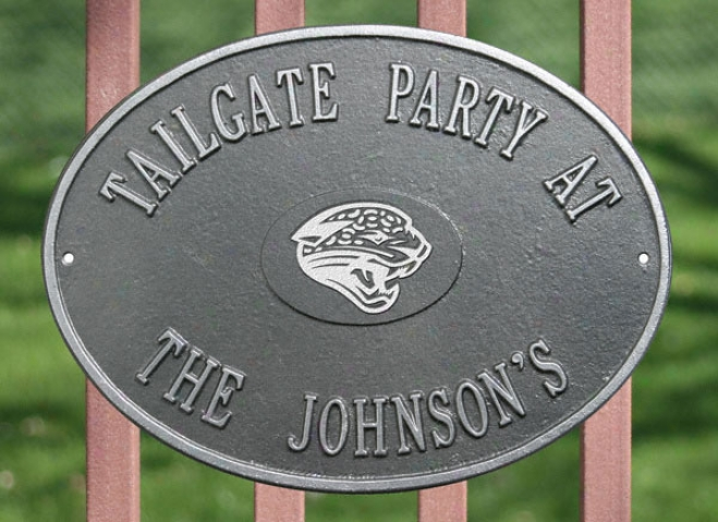Jacksonville Jaguars Personalized Pewter And Silver Indoor/outdoor Plaque