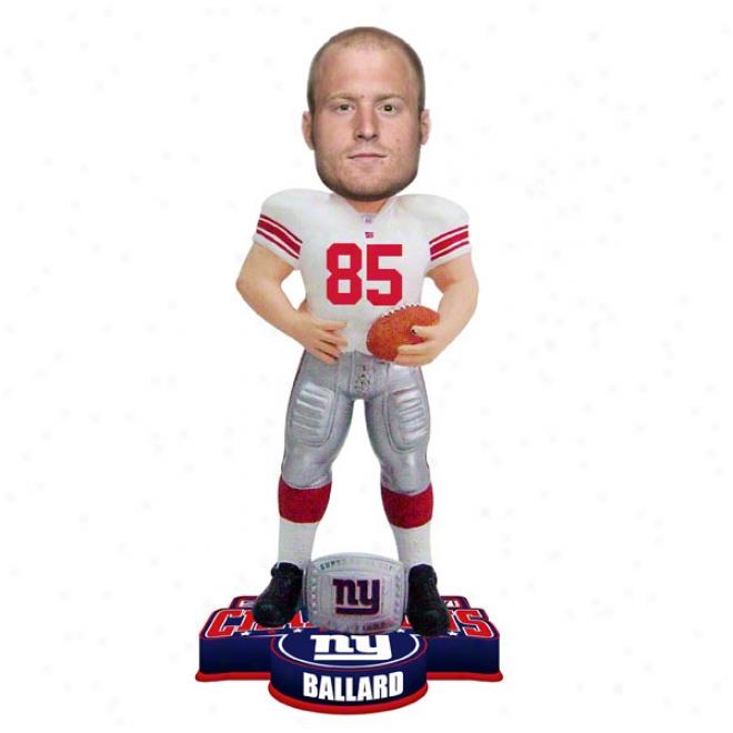 Jake Ballard #85 New York Giants Super Bowl Xlci Cham0ions Ring Bobble Head
