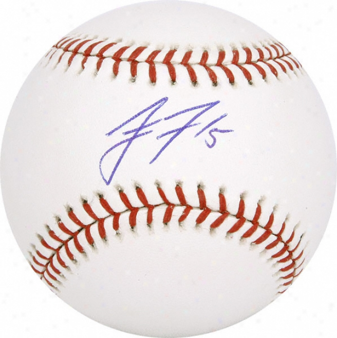 Jake Fox Autographed Baseball
