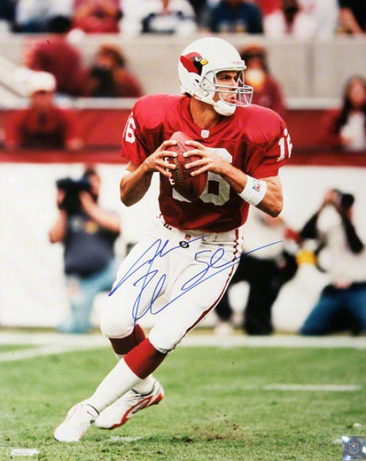 Jake Plummer Arizona Cardinals - Droppiny Back - 16x20 Autographed Photograph