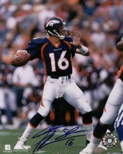 Jake Plummer Denver Broncos -passing- 16x20 Autographed Photograph
