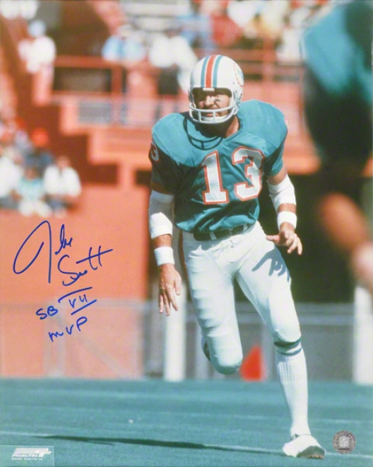 Jake Scott Autographed 16x20 Photograph  Details: Miami Dolphins, With &quotmvp Sb Vii&quot Inscription