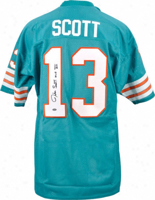 Jake Scott Autographed Jersey  Details: Custom