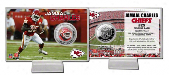 Jamaal Charles Silvver Coin Card