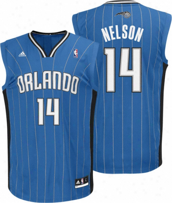 Jameer Nelson Jersey: Adidas Revolution 30 Blue Replica #14 Orlando Magic Jersey