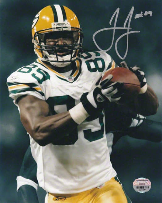 James Jones Autographed Photograph  Details: Green Bay Packers, 8x10