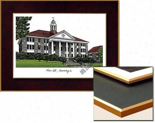 James Madison Dukes Collegiate Laminated Lithograph