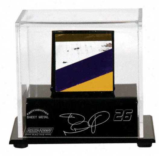 Jamie Mcmurray Logo Small Display Case Wkth Race Used Sheet Metap