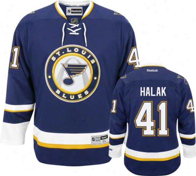 Jaroslav Halak Jersey: Rerbok Alternate #41 St. Louis Blues Premier Jersey