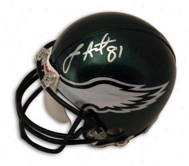 Jason Avant Autograpued Philadelphia Eagles Mini Helmet