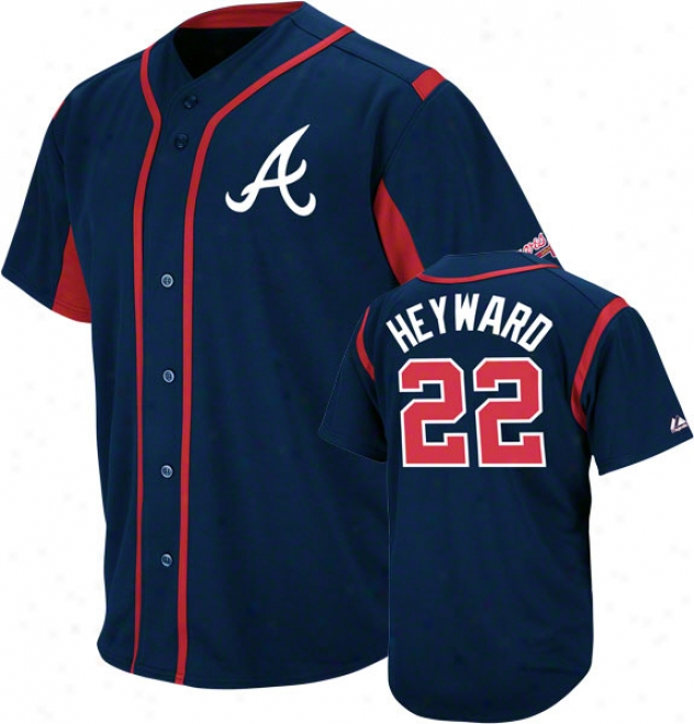 Jason Heyward Atlanta Braves Wind-up Navy Player Jersey