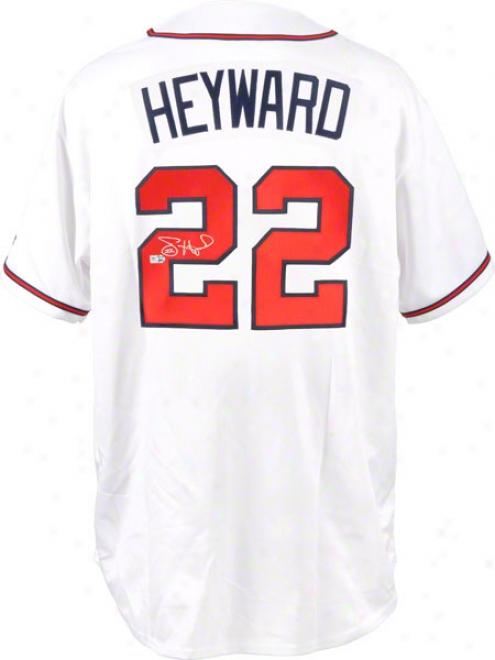 Jason Heyward Autographed Jersey  Details: Atlanta Braves, Replica