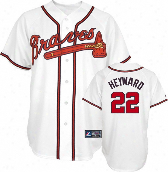 Jason Heyward Jersey: Adult Elevated Home Whlte Replica #22 Atlanta Braves Jersey