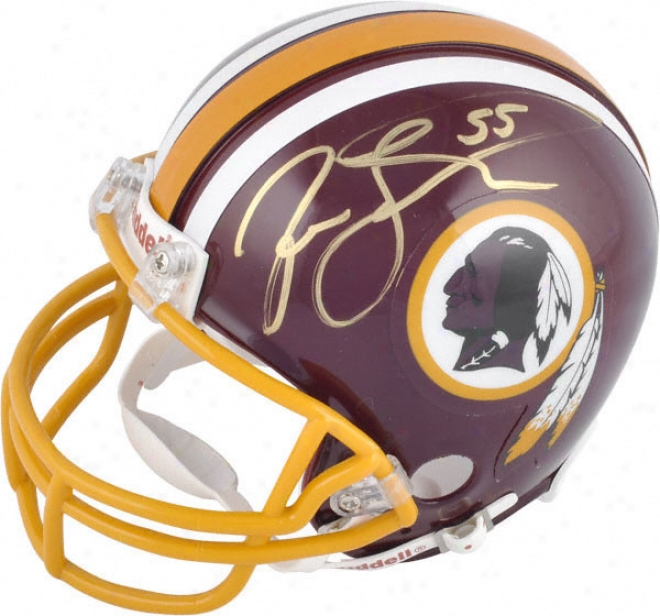 Jason Taylor Washington Redskins Autograpjed Mini Helmet With #55 Inscription