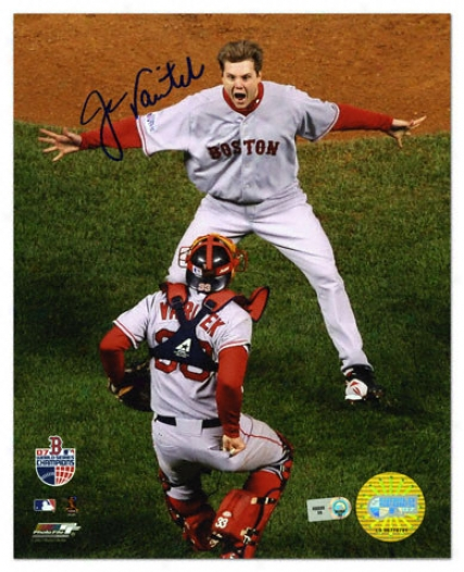 Jason Varitei Boston Red Sox - World Series 2007 Celebration - Autographed 8x10 Photograph