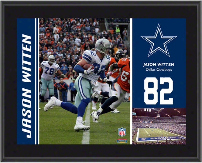 Jason Witten Flat plate of metal  Details: Dallas Cowboys, Sublimatedm, 10x13, Nfl Plaque