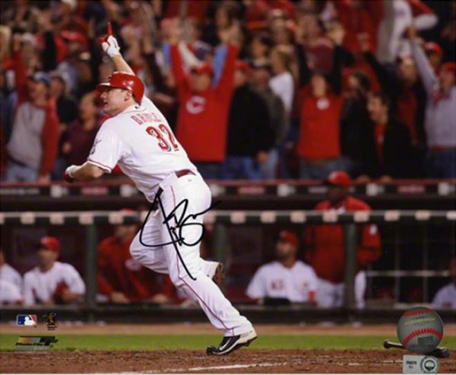 Jay Bruce Autographed 8x10 Photograph  Details: Cincinnati Reds