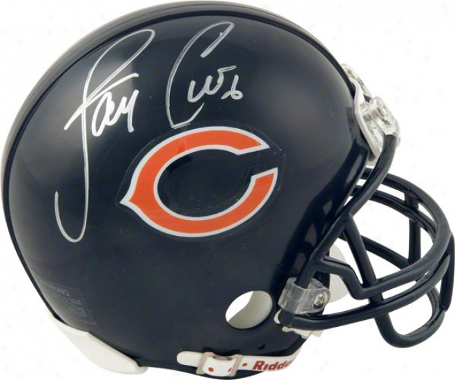 Jay Cutler Chicago Bears Autographed Mini Helmet