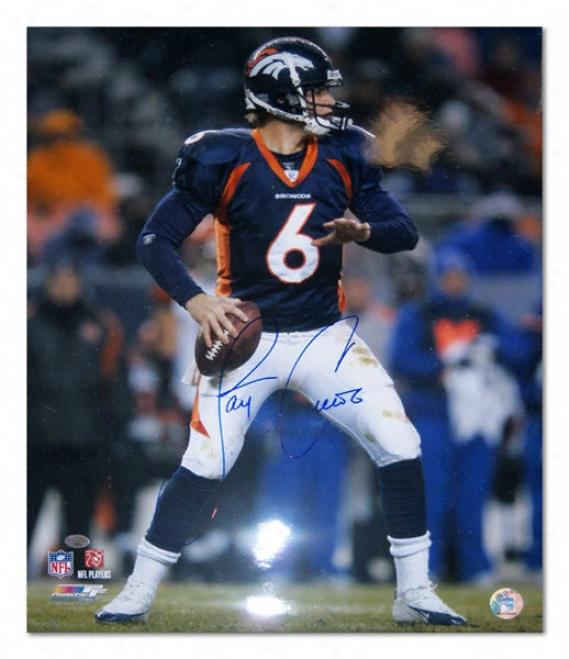 Jay Cutler Denver Broncos Autographed 16x20 Photogaph