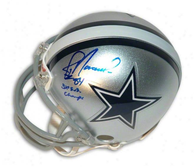 Jay Novacek Autographed Dallas Cowboys Mini Helmet Inscribed &quot3x Sb Champs&quot