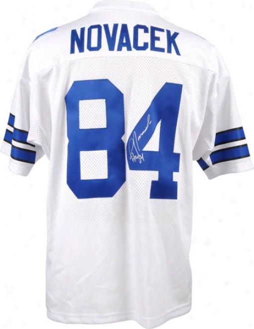 Jay Novacek Autogdaphed Jersey  Details: Dallas Cowboys, Custom