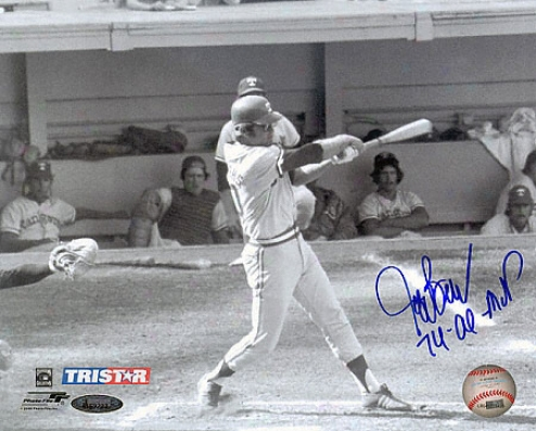 Jeff Burroughs Autographed Photo: Texas Rangwrs Signed 8x10 Photograph With 74 Al Mvp Inscription