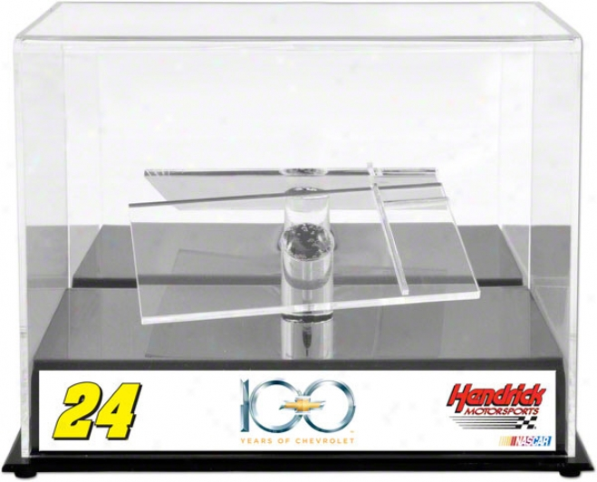Jeff Gordon 1/24th Die Cast Display Case  Details: Chevrolet 100th Anniversary, Witth Platform