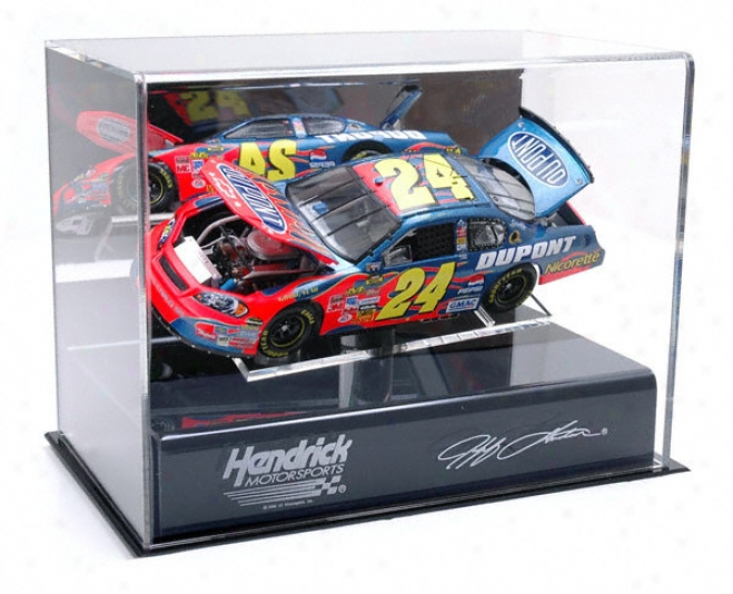 Jeff Gordon 1/24th Die Cast Display Case With Platform