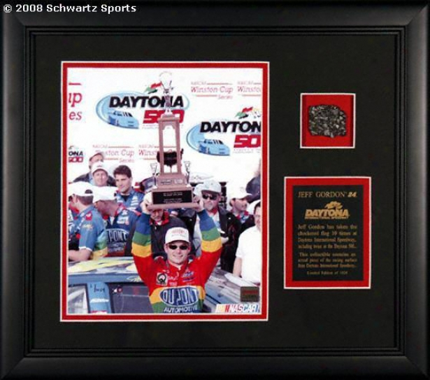 Jff Gordon Framed  -Daytona With Follow Piece - 8x10 Photograph