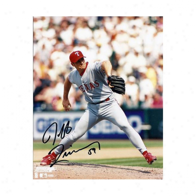 Jeff Zimmerman Autographed Texas Rangers 8x10 Photo