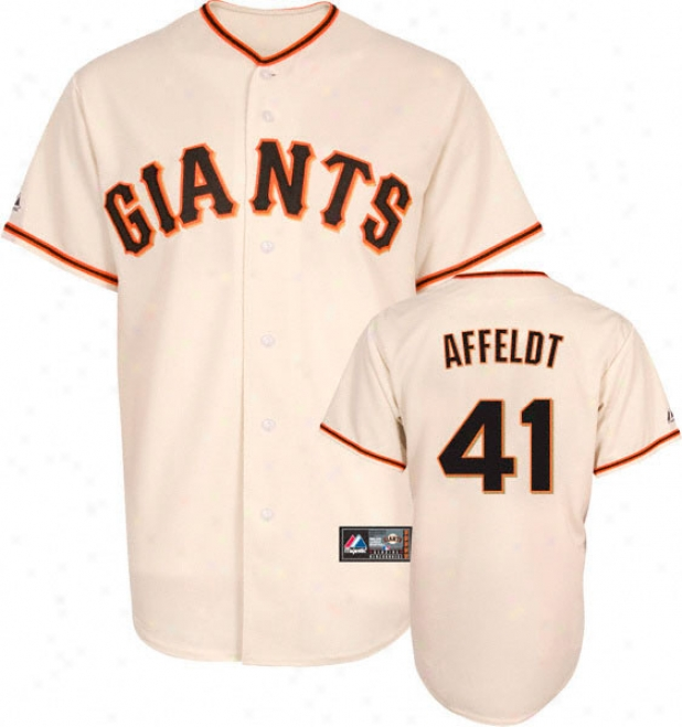 Jeremy Affeldt Jersey: Adult Majestic Home Ivory Replica #41 San Francisco Giants Jersey