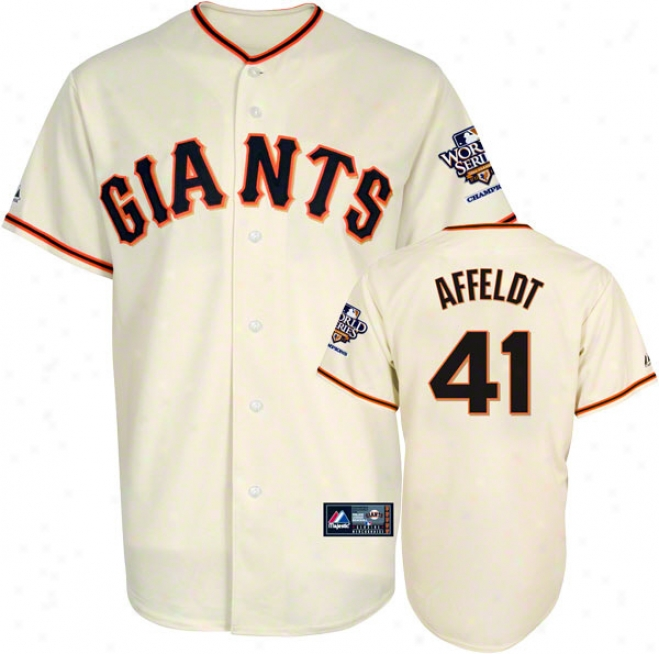 Jeremy Affeldt Jersey: San Frznxisco Giants #41 Home Autograph copy Jersey With 2010 World Series Champs Patch