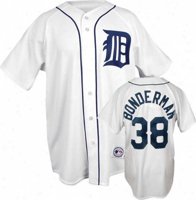 Jeremy Bonderman White Majestic Mlb Home Replica Detroit Tigers Jersey