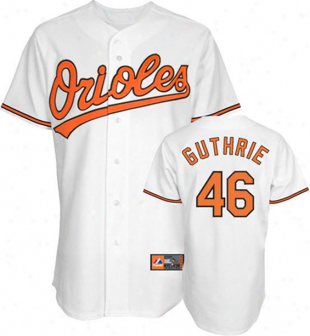 Jeremy Guthrie Jersey: Adult Elevated Home Of a ~ color Replica #46 Baltimore Orioles Jersey