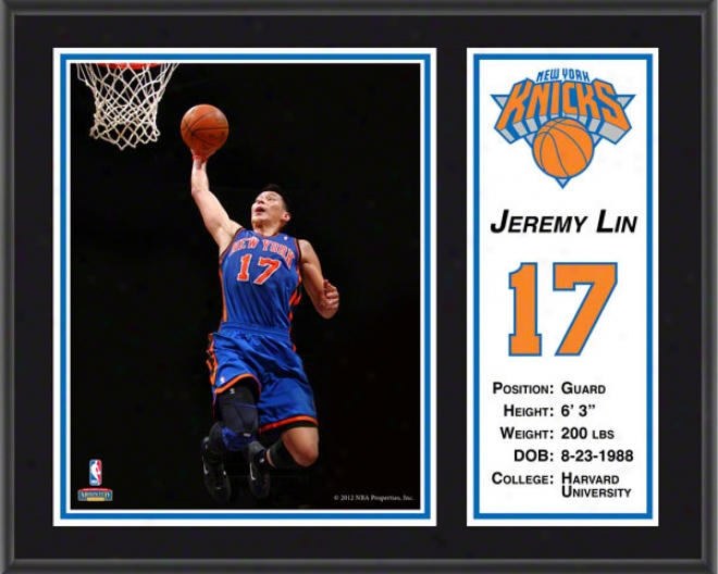 Jeremy Lin Sublimated 12x15 Plaque  Dettails: New York Knicks